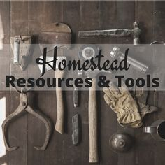 Check out our extensive homestead resources and tools list. This is what we use here on our farm and homestead!
