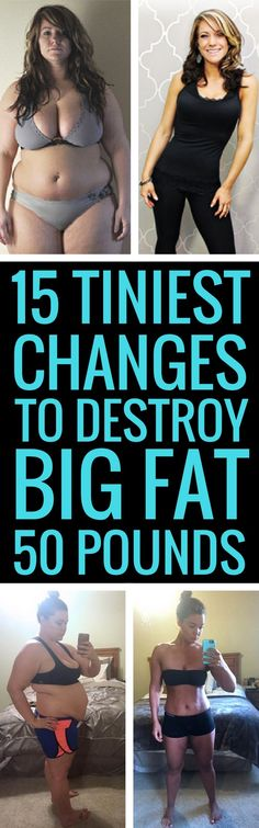 15 small changes to lose a lot of weight fast and for good. Before And After Weightloss, Weight Loss Before, Weight Loss Meal Plan, Losing Weight Tips, Want To Lose Weight, Weight Loss Tips, Reduce Weight, Burn Belly Fat Fast, Lose Belly