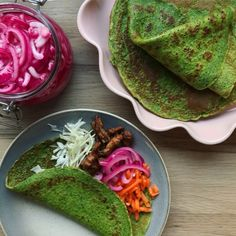 spinatpandekager Healthy Recepies, Pancakes And Waffles, Dinner Is Served, Avocado Toast, Tapas, Food And Drink, Protein, Lunch, Vegan