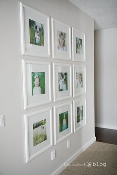 Matte pictures, ikea pictures, white picture frames, picture wall, family p Frame Wall Collage, Gallery Wall Frames, Frame Wall Decor, Frames On Wall, Framed Wall, Ikea Pictures, White Picture Frames, Ikea White Frames, Bedrooms