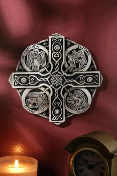 This Book of Kells Cross replica comes from Co. In the center of the cross is the symbol of the light of the world. Each of the four evangelists is holding a rod which connects them to Celtic Symbols, Celtic Art, Celtic Crosses, Celtic Knots, Celtic Dragon, Celtic Culture, Irish Roots, Book Of Kells, Irish Eyes