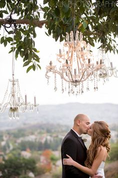 outdoor hanging chandeliers   California Wedding Day magazine   Resource for CA Bridal Planning and Inspiration   A Good Affair Wedding & Ev...