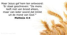 Matteüs 4:4 - dailyverses.net