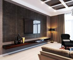 interior design wall treatments wood - Google Search