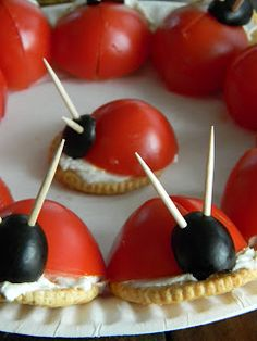 Recipes from the Pickle Boat: Ladybug Snacks