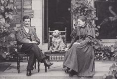 Beatrix Potter and her brother Bertram photographed by their father on the terrace at Lingholm, near Keswick, in 1898. Source: nationaltrust.org.uk