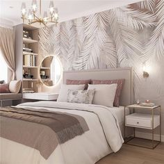 40 Stylish Bedroom Decorating Ideas - Page 4 of Design Your Bedroom, Luxury Bedroom Design, Home Room Design, Home Decor Bedroom, Home Interior Design, Stylish Bedroom, Modern Bedroom, Cozy Bedroom, Dream Rooms