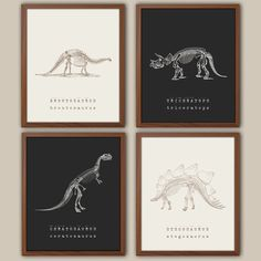 Dinosaur Wall Art - Kids Dinosaur Art - Baby Boy Nursery Art - Kids Wall Art - Playroom Wall Decor - Natural History - Boys Room Decor by iNKYSQUIDKIDS on Etsy https://www.etsy.com/listing/206554777/dinosaur-wall-art-kids-dinosaur-art-baby