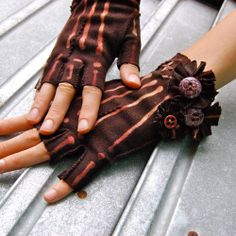 Twixt Piety and Desire Bones Gloves By Joy Patterson