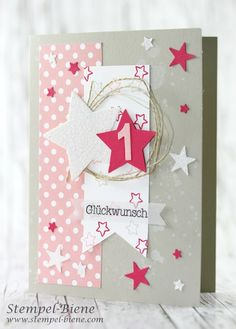 Karte Kindergeburtstag, Mädchenkarte Geburtstag, Karte 1. Geburtstag, Geburtstagskarte Mädchen, Stampinup Workshop, Match the Sketch, Kinderkarten geburtstag, stampinup bestellen, Stampinup onlineshop, stempel-biene