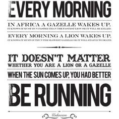 #running #lion #gazelle #quotes