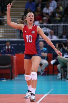 Olympics Day 3 - Volleyball  Jordan Larson University of Nebraska athlete in the Olympics.