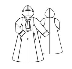 Coat  - Sewing Pattern #5108 Made-to-measure sewing pattern from Lekala with free online download.