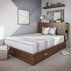 Classic Brands Vibe Gel Memory Foam Mattress Bed in a Box [Mattress Only] Twin XL ** Check out the image by visiting the link-affiliate link. Cheap Mattress, Best Mattress, Mattress Pad, Foam Mattress, Queen Mattress, Sans Serif, Best Futon, Mattress Manufacturers, Living Room