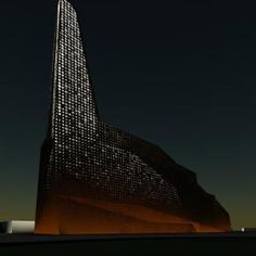 Energitårnet in Roskilde, Denmark. Energy Tower is designed by Erick van Egeraat. This carbon-neutral thermal power plant burns waste and the energy produced is equal to 125,000 tonnes of coal a year. Efficient engineering and a visual landmark.