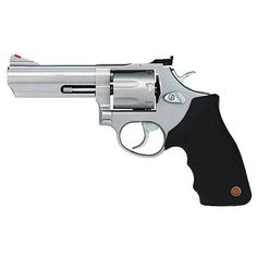 Taurus Model 66 Revolver .357 Magnum 4 Barrel 7 Rounds Black Rubber Grips Matte Stainless Steel Finish