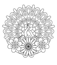 gunston coloring pages   INSTANT DOWNLOAD Coloring Page - fun mandala flower or ...