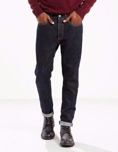 6b5cb784 Levis 501CT men jeans 288940030 red line selvedge denim indigo 100% Cotton # Levis #