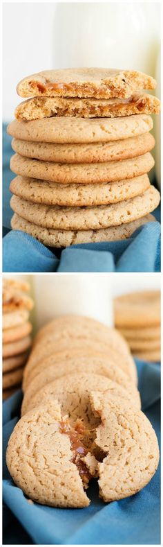 Apple Cider Caramel Cookies - Yummy apple cider cookies stuffed with caramel that makes a ooey-gooey center perfect with a mug of coffee or hot tea.