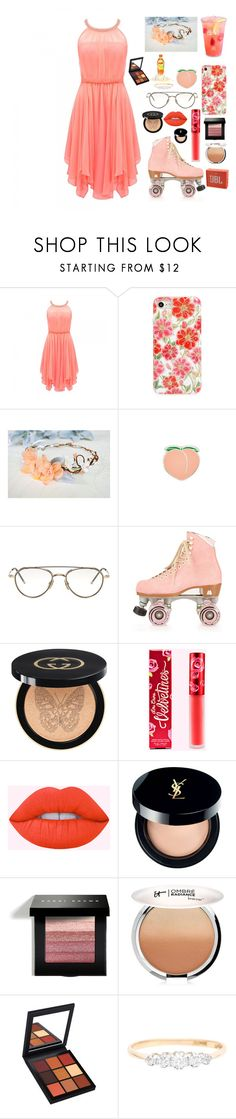 """""""Roll me out"""" by lucyheartyui ❤ liked on Polyvore featuring Forever New, Velvet Caviar, PINTRILL, Thom Browne, Moxi, Gucci, Yves Saint Laurent, Bobbi Brown Cosmetics, It Cosmetics and JBL"""