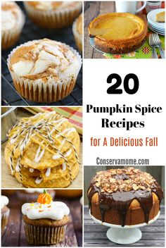 What is more Fall than Pumpkin Spice? Here are 20 Pumpkin Spice Recipes for a Delicious Fall. They will be absolute perfection when the weather turns crisp. Fall Cookie Recipes, Fall Dessert Recipes, Party Desserts, Pumpkin Recipes, Fall Recipes, Delicious Desserts, Snack Recipes, Yummy Recipes