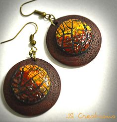 It's all about the crackle series - polymer clay earrings   Flickr