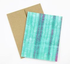 Vibrant turquoise makes this a great 'just because' or birthday card.