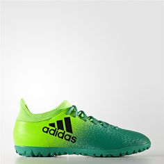 Adidas X 16.3 Turf Shoes (Solar Green / Core Black / Core Green)