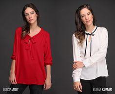 Las lace up blouses o blusas con lazo / moño, una tendencia de la temporada.