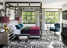 Caitlin And Emily Argue About Canopy Beds (And Discover The Secret To Making Them Work With Regular Height Ceilings) - Emily Henderson Interior Exterior, Best Interior, Home Interior, Interior Design, Bathroom Interior, Hollywood Homes, West Hollywood, Hollywood Regency, Art Deco