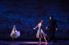 """Reassembling the 'Little Dancer' by Degas as a Musical - NYTimes.com Tiler Peck, center, with Boyd Gaines, right, who plays Degas, in a ballet from """"Little Dancer,"""" a new musical at the Kennedy Center in Washington."""