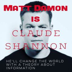 Claude Shannon loses out to #Turing in public awareness. He needs a movie. #informationtheory