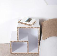 superbe etagere en carton DIY, tuto meuble en carton très élégant pour votre chambre à coucher, table de chevet