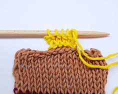 How to Pick Up Stitches to Make Collars or Cuffs | Knitting Tips and Techniques from We Are Knitters