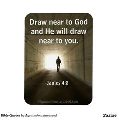 Draw near to God Bible Quotes Vinyl Magnet