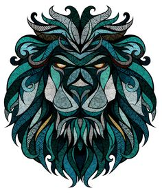 """Landyachtz // Longboard Graphics"" - commercial illustration by Andreas Preis for Land Yachtz Lion Wall Art, Lion Art, Kaktus Tattoo, Symmetrical Balance, Symmetrical Tattoo, Illustrator, Illustration Vector, Animal Illustrations, Blue Lion"