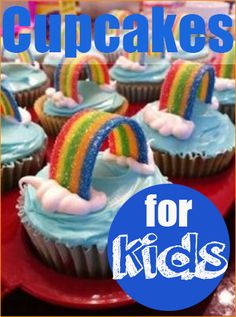 7 Fabulous Cupcake Ideas for Kids.  Creative cupcake decorating ideas for kids parties.