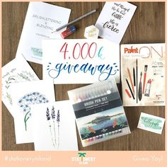 """Guess what time it is? (No not Hammer Time)  PLEASE LIKE COMMENT AND TAG UNDER THE ORIGINAL POST!  It's GIVEA-YAY TIME!  We teamed up with @kellygrafie to celebrate her 4k followers and bring you this giveaway! Check it out: """" WHAT IS IN IT?    A brushpen set by @stationeryisland.uk  My brushlettering & blending manual with an exclusive link to a video (in Dutch though! )  My favorite sketching tools  One of my favorite paperpads to blend on  Three A5 prints of my watercolor work and 1 A6…"""