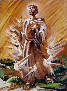 Catholic Art, Catholic Saints, Catholic Priest, St Francisco, St Francis Assisi, Christ Tattoo, St Clare's, Mother Mary, Fantastic Art
