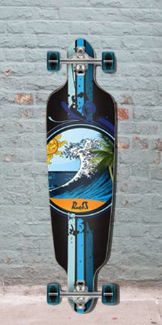 """Longboards USA - Drop Through Longboard - Wave - 40"""" Graphic from Punked - Complete, $105.00 (http://longboardsusa.com/longboards/longboards-for-beginners/drop-through-longboard-wave-40-graphic-from-punked-complete/)"""