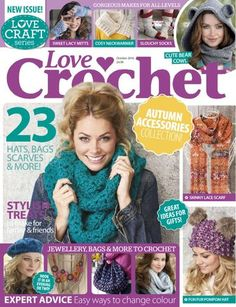 All the issues of Love Crochet on our Newsstand. Get the subscription to Love Crochet and get your Digital Magazine on your device. Crochet Chart, Love Crochet, Crochet Stitches, Knit Crochet, Knitting Magazine, Crochet Magazine, Knitting Books, Crochet Books, Crochet Designs