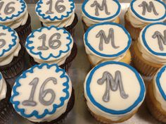 Sweet 16 cupcakes.