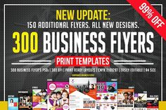 Ad: Multipurpose Flyers Bundle by AfzaalGraphics on We have new 300 Multipurpose flyers bundle for you! Just buy once and it will help you for years. As the latest design techniques and tends Flyer Design Templates, Print Templates, Flyer Template, Business Brochure, Business Card Logo, Business Flyer, Change Image, Script Type, Corporate Branding