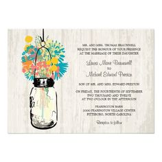 This DealsRustic Wood Mason Jar and Wildflowers Wedding Custom InvitesYes I can say you are on right site we just collected best shopping store that have