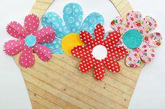 Trendy Fruit Basket Craft For Kids Paper Plates Ideas Foam Crafts, Craft Stick Crafts, Templates Printable Free, Free Printables, Tree Templates, Printable Animal Masks, Fun Crafts For Kids, Kids Fun, Crown Template