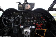 Cockpit: The top-secret mission, codenamed Operation Chastise, was led by wing commander Guy Gibson and was credited with boosting morale across Britain Air Force Aircraft, Ww2 Aircraft, Military Aircraft, Lancaster Bomber, Mr Johnson, Battle Of Britain, Aircraft Design, Flight Deck, Royal Air Force