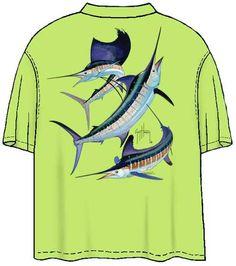 46c7b907e87a9 Guy Harvey Shirts - Guy Harvey Grand Slam Back-Print Pocketless Tee w  Front