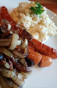 Blomkål og sellerirotmos (lavkarbomedhanne) Lchf, Risotto, Gluten, Chicken, Meat, Ethnic Recipes, Food, Hoods, Meals