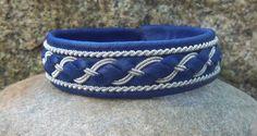 Sami Bracelet Pewter Wire Braids Blue by spiritofthenorth on Etsy