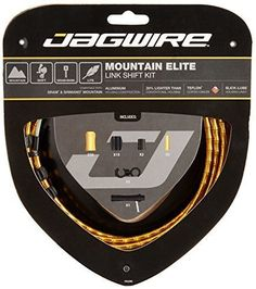 Jagwire Mountain Elite Link Bicycle Shift Cable Housing Kit (Gold) by Jagwire. Jagwire Mountain Elite Link Bicycle Shift Cable Housing Kit (Gold).